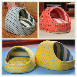 Wholesale Pink Dog Pen - Wholesale-Designer egg shape pink gray yellow cotton puppy bed mascotas perros bedding set pet dog bed chien beds dogs house for cats A013