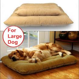 Wholesale Large Washable Dog Beds - Wholesale-Large Dog Bed Mat Luxury Detachable Washable Thicken Winter Bed for Big Dog Golden Retriever Labrador Super Pet Bed 2 Sizes