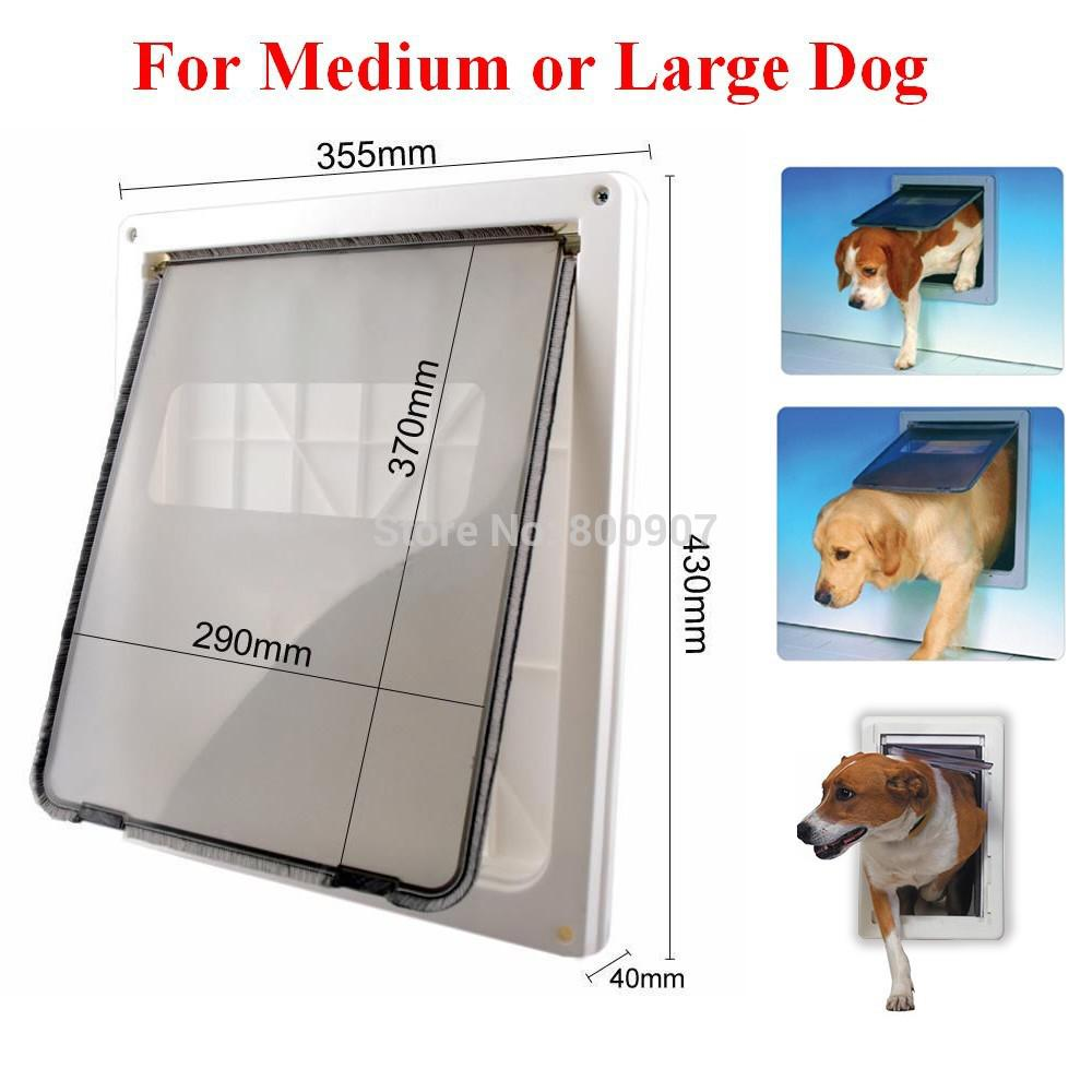 Online cheap wholesale abs plastic white safe pet door for large online cheap wholesale abs plastic white safe pet door for large medium dog freely in and out home gate animal pet cat dog door asaf by feetlove dhgate eventshaper