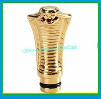 Wholesale Inhaler Vaporizer - Wholesale-Hot!Drip Tip Cobra Head Shaped Fashion design for eGo Atomizer Vaporizer electronic cigarette Metal Inhaler Snake Drip Tip