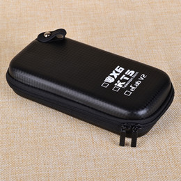 Wholesale Ecab V2 E Cigarette - Wholesale-Big X6 Case X6 KTS Zipper Case E Cigarette leather case bag for X6 kts K100 K201 K200 ecab v2 electronic cigarette starter kit