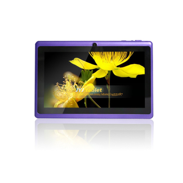 Wholesale-7inch Allwinner A33 Tablets Dual Core Google Android 4.2 Tablet PCs 8GB Dual cameras WiFi 1.5GHz Free Shipping