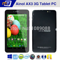 "Wholesale Ainol Tablet 1gb Hdmi - Wholesale-Original 7"" Ainol AX3 Quad Core 3G Android Tablet PC Dual SIM Card MT8382 HDMI GPS Bluetooth WIFI 1G RAM 16G ROM Phone"