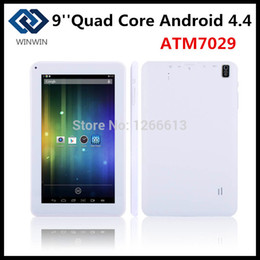 Wholesale Cheapest Hdmi Bluetooth Tablet - Wholesale-Cheapest 9inch Android Tablet pc ATM7029 Quad Core Andriod 4.4 512MB  8GB With HDMI Bluetooth Wifi Dual Camera Freeshipping