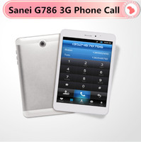 "Wholesale Sanei Phone 3g - Wholesale-Cheap Sanei G786 3G Phone Call Tablet PC 7.85"" MTK8382 Quad Core 1.5GHz Andrioid 4.4 8GB GPS Bluetooth tablet Dual SIM Slot"