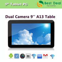 "Wholesale Allwinner A13 Cortex A8 - Wholesale-High Quality Cheap 9"" Tablet PC Allwinner A13 Android 4.0 Cortex A8 512MB 8GB Capacitive Screen, Free Shipping"