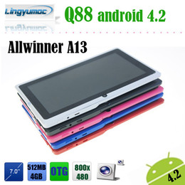 Wholesale Cheap Tablet Pc A13 - Wholesale-Freeshipping Cheap and Classical tablet pc 7 inch allwinner A13 Q88 Android 4.2 versions available