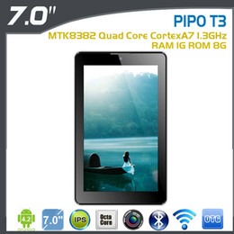 Wholesale Pipo Inch Tablet Phone - Wholesale-7 inch Original PIPO T3 3G Phone Call Tablet PC IPS1280x 600 MTK8382 Quad Core 1.3Ghz 1GB 8GB Dual Camera 500MP GPS BT WIFI