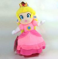 "Wholesale Super Mario Bros Peach Plush - Wholesale-New Super Mario Bros. Plush Princess Peach Soft Toy Stuffed Animal Doll Teddy 7"""