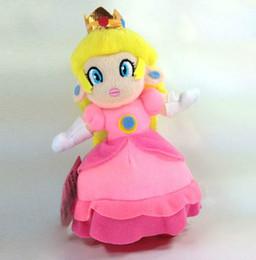 "Wholesale Super Mario Bros Stuffed Animals - Wholesale-New Super Mario Bros. Plush Princess Peach Soft Toy Stuffed Animal Doll Teddy 7"""