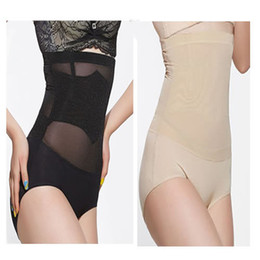 Wholesale Tummy Tuck Body Shaper - Wholesale-Women High Waist Body Shaper Slimming Panties Tummy Control Waist Briefs Knickers Trimmer Tuck Girdles Corrective Underwear