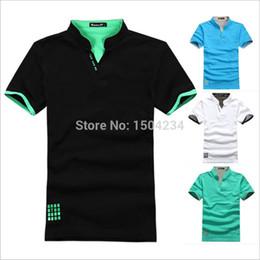 Wholesale Mens Plus Size Polo - Wholesale-2015 NEW Sale Cotton Sport Mens Polo shirt,Top Quality Man's Clothing Short Sleeve Mens Tops POLO Men Shirt, XXXL plus size