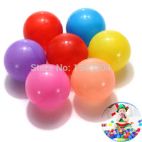 Wholesale Wholesale Pit Balls - Wholesale-200Pcs lot Colorful Durable Fun Ball Soft Plastic Water Pool Ocean Ball Baby Kids Toys Swim Pit Free Shipping