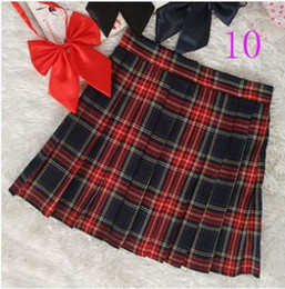Wholesale-FREE DELIVERY 2015new Preppy style japanese style school uniform plaid pleated skirt short skirt bust skirt