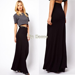 Black Fitted Maxi Skirt Online | Black Fitted Maxi Skirt for Sale