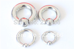 Wholesale Pa Rings - Wholesale-Body piercing jewelry Flesh Tunnel pa spring ball bcr 1 pc 3mm 4mm 6mm 8mm PA ring free shipping