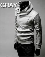 xxl yüksek yaka ceketi erkek toptan satış-Toptan-ÜCRETSIZ KARGO Yüksek Yaka Erkekler Ceket Üst Marka Toz Coat Hoodies Giyim M L XL XXL XXXL bahar yeni erkekler eğimli fermuar
