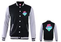 новый розовый дельфин оптовых-Wholesale-free shipping new arrival Pink dolphin Men autumn winter fashion  hoodies fleece print diamond animal pullover sweatshirts