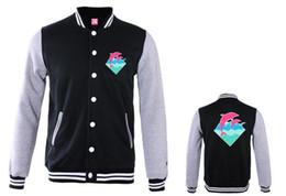 Wholesale new diamond hoodies for sale – designer new arrival Pink dolphin Men autumn winter fashion brand hoodies fleece print diamond animal pullover sweatshirts