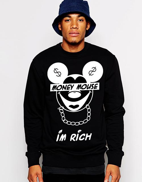Best Wholesale Money Mouse Im Rich Graphic T Shirts Sweatshirts 100% Cotton  Pyerx Player Asap Rocky Pigalle Yeezus Hoodies Tee Under $22.35 | Dhgate.Com