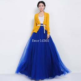 Gauze balls online shopping - New Fashion Women Womens Tulle Gauze Mesh Long Maxi Skirt Wedding Dress Long Chiffon Female Candy Color Pleated Womens Skirts
