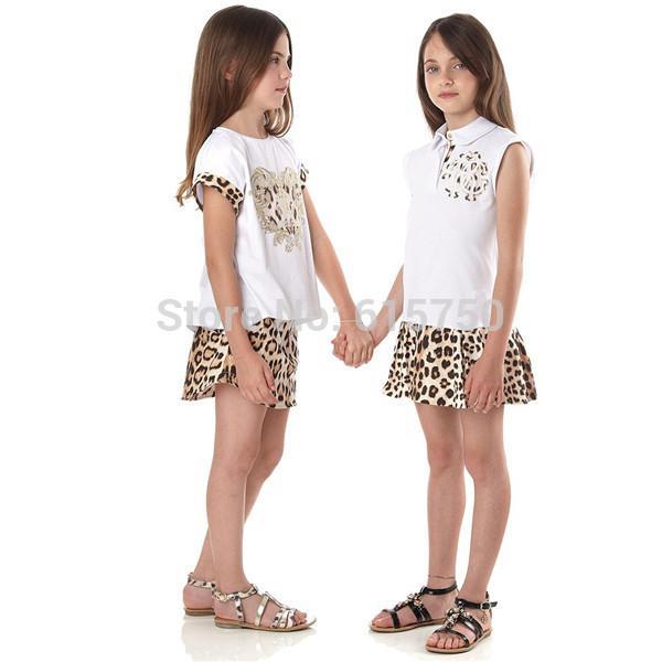 Großhandel Großhandels Kind Kleid Italien Designer Leopard Druck ...