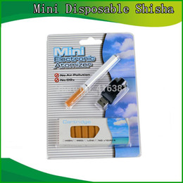 Wholesale Electronic Cigarettes Refills - Wholesale-2015 Mini Disposable Shisha Electronic Cigarette Vaporizer Pen Kits Best E Cigartte With 10 Pcs Refill Tobacco Flavor Cartridge