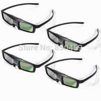 Wholesale Dlp Link 3d Glass - Wholesale-4x OEM Glasses 3D DLP Link 144Hz for projector