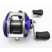 Wholesale roller water - Wholesale-Royal Blue Baitcasting Fishing Reel Lure Casting Reels wheel lateral roller fishing reel salt water wheel with nylon line