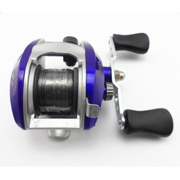 Wholesale Salt Waters Reels - Wholesale-Royal Blue Baitcasting Fishing Reel Lure Casting Reels wheel lateral roller fishing reel salt water wheel with nylon line