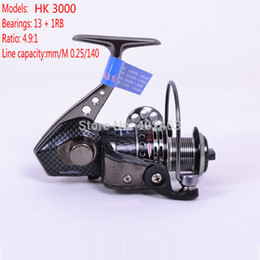Carretes de brazo online-Al por mayor-Spinning carrete carrete de pesca Tokushima HK3000 Aleación de aluminio plegable balancín 14 rodamiento de precisión
