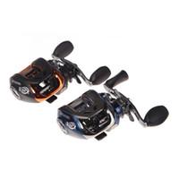 Wholesale Baitcasting Reel High Speed - Wholesale-High Speed 10+1BB Ball Bearings Left Hand Bait Casting Fishing Reel Carp fishing Gear Baitcasting Reel 6.3:1 AF103 Black Blue