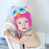 Wholesale Black Owl Crochet Hat - Wholesale-Lovely Owl Design Baby Boy Girl Handmade Knit Crochet Beanie Hat Cap Photo Prop