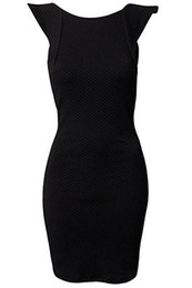 Wholesale Hot Girls Backless - Wholesale-Hot sale 2015 vestido plus size Summer Backless Dress for Girl Noble Red Black LC21078 Women Party Bodycon Dresses with Ruffled