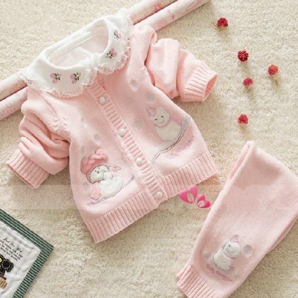 Wholesale Newborn Baby Sweater Set 100% Cotton Jersey Sweaters ...