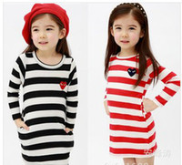 Wholesale Kids Long Sleeve Tee Shirts - Wholesale-Girls Children Tee Shirt Fit 3-7Yrs Kids Baby Long Sleeve Spring Autumn T Shirt 5 Pieces  Lot 5 Size Same Color Free Shipping