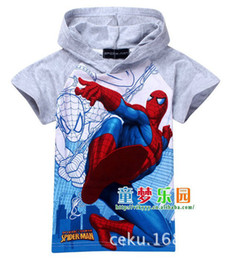 Wholesale Spiderman Shirts For Girls - Wholesale-1pcs New 2015 girls nova top shorts t-shirts for kids baby children's spiderman cartoon children t shirts clothing 4 designs
