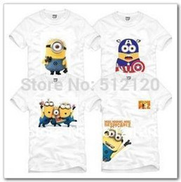 Wholesale Despicable Minions Tshirt - Wholesale-free shipping 2015 new sale kids tshirt children T-shirt Despicable me minion cartoon printed tshirt tops 100% cotton 13 styles
