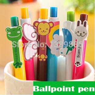 Wholesale-10 pcs/lot Cute Cartoon Kawaii Novelty Ballpoint Pens Lovely Cat Bird Ball Pen Korean Stationery Free shipping