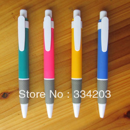 plastic pen logo Canada - Wholesale-Small wholesale  printing  printed logo  advertising  promotional stationery gift  plastic ballpoint pen custom logo products
