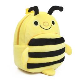 karikatur-charakter-rucksäcke großverkauf Rabatt Wholesale-2015 neue Baby schöne Cartoon-Charakter Schultaschen Kinder gelbe Biene Design Rucksack Jungen und Mädchen Spielzeug Taschen, I086