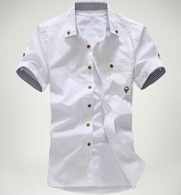 Discount Wholesale New Fashion Men Slim Casual Shirts Stylish ...