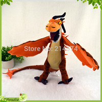 Barato Train Dragon Stuffed Animal Wholesale-Venda por atacado-60cm de comprimento Flying Monstrous Nightmare Dragon Plush Toy Como treinar seu Dragon 2 Stuffed Plush Animals Doll Brinquedos Brinquedos