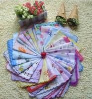 "Wholesale Wedding Cutter - Wholesale-Hot 35 Lot 11.8"" Cutter Ladies Viniage Hanky Floral Handkerchief Party Wedding hot"