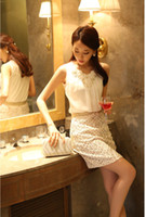 Wholesale Crochet Tanks - Wholesale- Lace Chiffon Blouses Fashion blouse Sleeveless Shirts Women's Summer Backless Tops Basic Crochet Tank Size S-XL