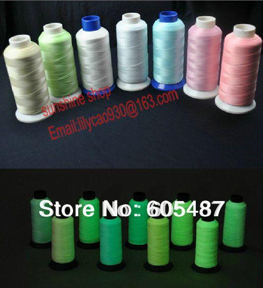 Wholesale Polyester Luminescent Embroidery Thread Luminous Yarn