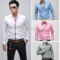 Wholesale Work Shirts Xxl - Wholesale-Plus Sizes XXL Summer New Fashion Men's Casual Short-Sleeved Work Shirt Men Dress Shirt Slim Solid Business Wear 36