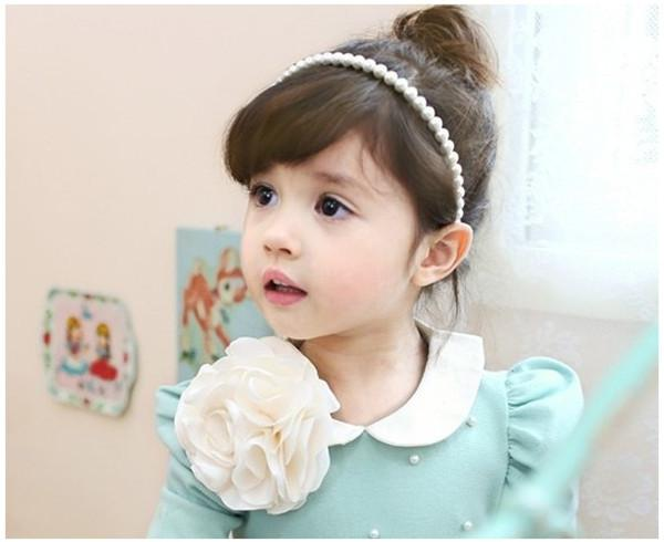 77f36303d3f Wholesale-Korean Baby Pearl Hairpin Children s Hair Bands Children ...