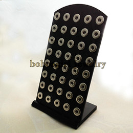 Wholesale-Z08 Black Acylic display for snap button jewelry (fit 12mm snap)