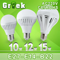 Wholesale Edison Led Spot Lamp - Wholesale-10pcs lot Wholesale Led Lamp E27 B22 220V 3w 5w 7w 9w 12w 15w 25w 30w Led Bulb light 360 Degree Warm Cold White Led spot light